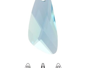Swarovski Crystal Clear AB 23x10mm Wing 6690 Pendant; DIY Jewelry Crafts