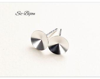 Silver Rivoli studs sterling silver stud earrings sterling silver ear studs for Swarovski Rivoli 1122 SS39 925 ear studs for Rivoli