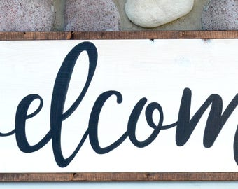 Welcome - Farmhouse Sign