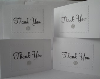 Pack of 4 Thank You Cards
