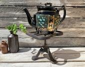 Iron trivet, Fireplace Trivet, Pot trivet, Black iron Trivet, Plant Stand, Metal Plant Stand, Vintage Plant Stand