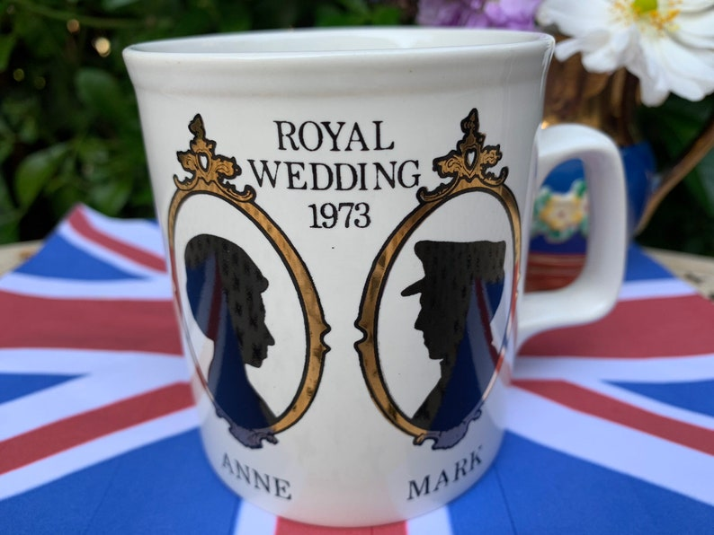 8d068c5fc Royal Wedding Anne   Mark 1973 commemorative mug british