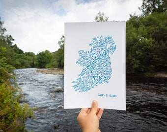 Rivers of Ireland - Digital Print