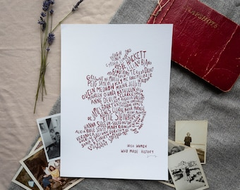 Irish women who made history - digital print