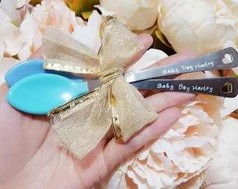 Personalized Baby Spoons for Baby Boys, Customized Baby First Spoon, Baby Show Gift, Baby Name Spoon, New Mom Gift