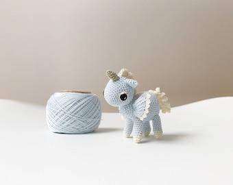 Mini Plush Pastel Rainbow Unicorn / Small Rainbow Crochet Unicorn ... | 270x340