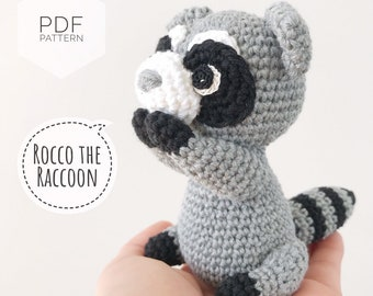 Crochet pattern Amigurumi little raccoon | 270x340