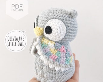 Baby Knitting Patterns Crochet Leaping Stitch Owl Amigurumi Free ... | 270x340