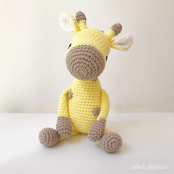 250 Crochet Pattern - Ray the Giraffe - Amigurumi soft toy PDF ... | 570x570