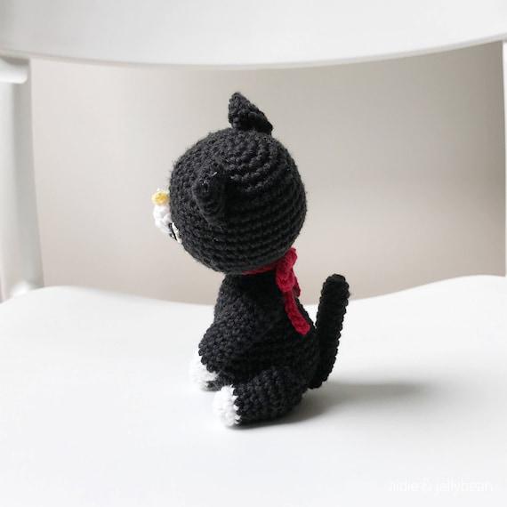 Amigurumi gato negro gato de Crochet amigurumi negro gato | Etsy