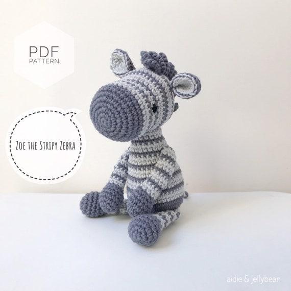 Zaza the Zebra Free Amigurumi Crochet Pattern ⋆ Crochet Kingdom | 570x570