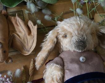 Lamb Teddy lamb Doll OOAK Artist Teddy Vintage style