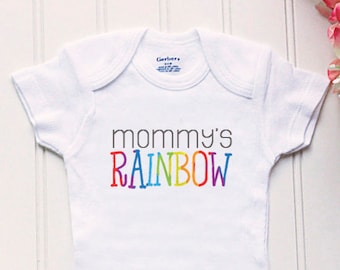 Rainbow baby Onesie® - baby clothes, after the storm Onesie®, IVF Onesie®, take home outfit, new baby clothes, rainbow baby, mommy's rainbow