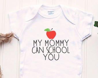 School Teacher Onesie® - Old School Onesie®, Teacher Mom Onesie®, Professor Onesie®, take home outfit, new baby outfit, funny baby Onsie®