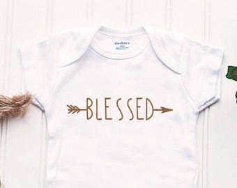 Double Blessed Twin Onesies Twins Outfits Baptism Boho Mommys Blessings Arrow Shirts