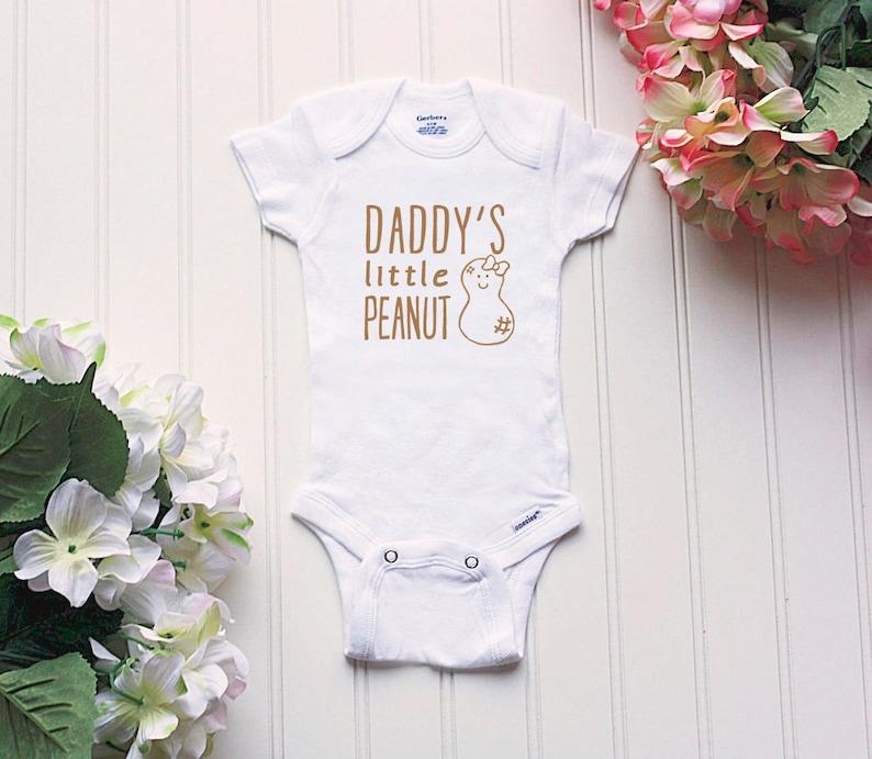 3c3f4202af6a5 Daddy's Peanut Onesie® new dad Onesies®® baby girl   Etsy