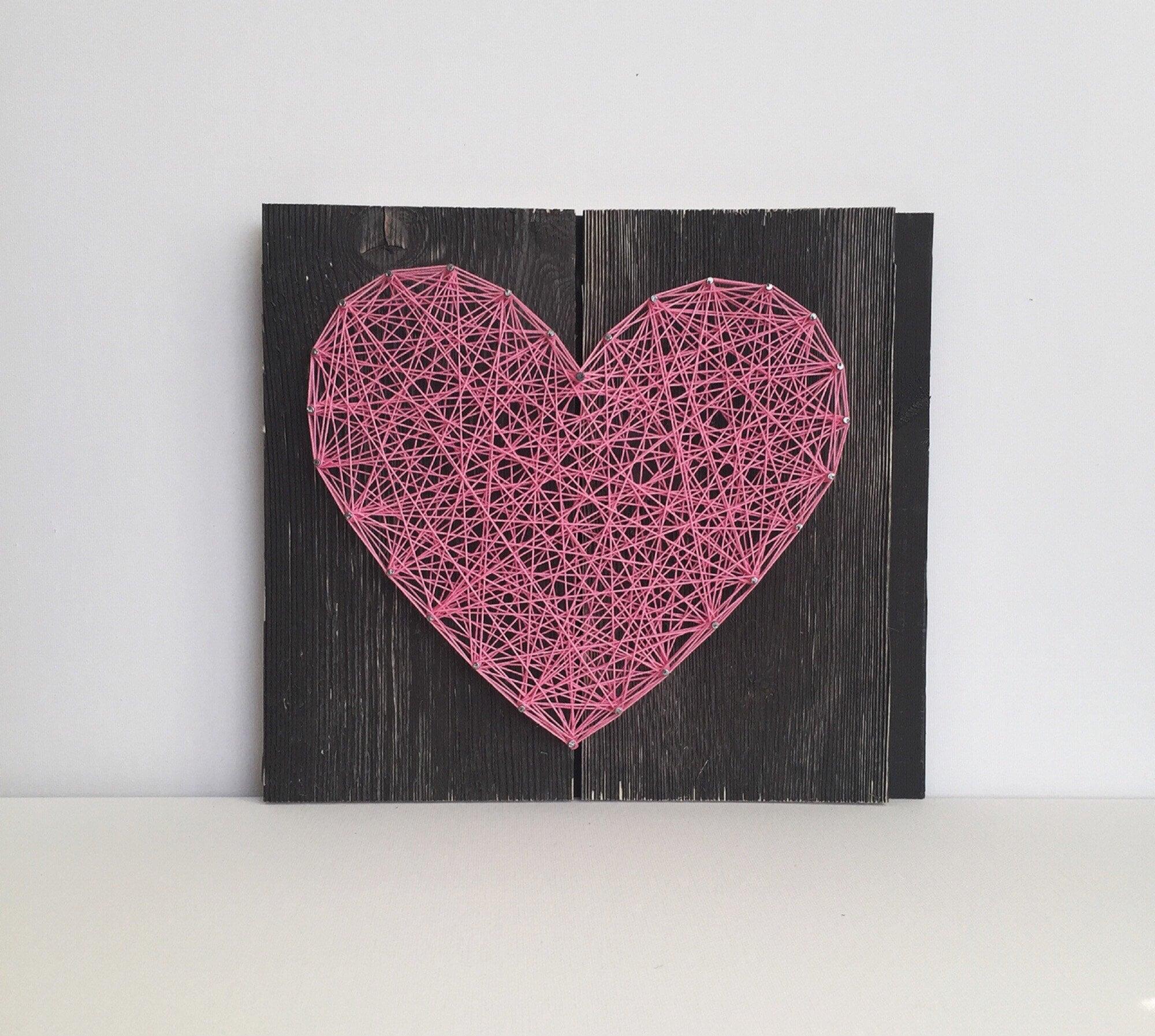 String Art Kit Diy Craft Kit Heart Sign Kids Craft Diy Nail