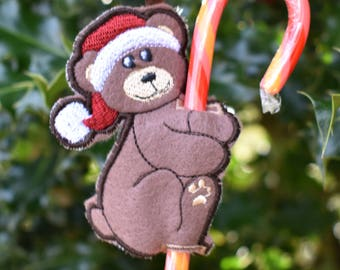 Hungry Bear Candy Cane Holder