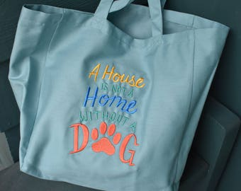 Canvas Tote - House w/o A Dog