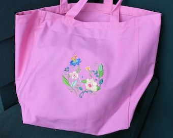 Canvas Tote - Spring Flowers