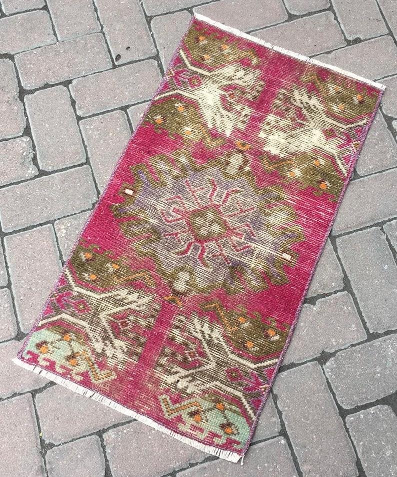 Bohemian rug Small Rug Door Mat Turkish Hand Made Wool Small Rug Area Small Rug Vintage Small Rug Bedroom Rug 1\u20194\u201dx2\u20196\u201d ft. Yoga Mat