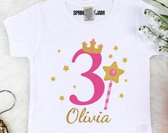 Princess Birthday Shirt 3rd Girls Third For