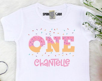 Donut Birthday Shirt, 1st Birthday Shirt, Donut Birthday Shirt Girl, Girls Donut Birthday Party, First Birthday Shirt