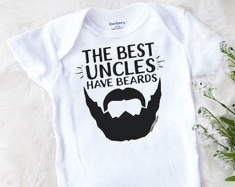 4d8608c29 Uncle Baby Onesie® Brand, Funny Baby Best Uncles Have Beards, Uncle  Announcement, Bearded Uncle, Cute Baby Clothes, Baby Shower Gift