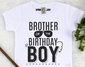 Brother Birthday Shirt Brother Of The Birthday Boy Sibling