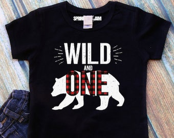 Wild One Birthday Shirt 1 1st Boy And First Boys Outfit