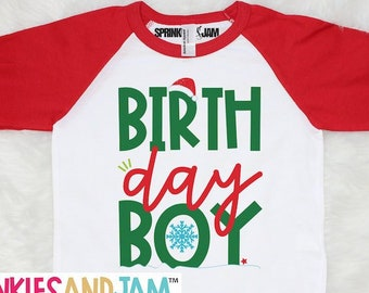 Birthday Boy Shirt Christmas For Boys Holiday Winter 1st Personalized With Name On Back