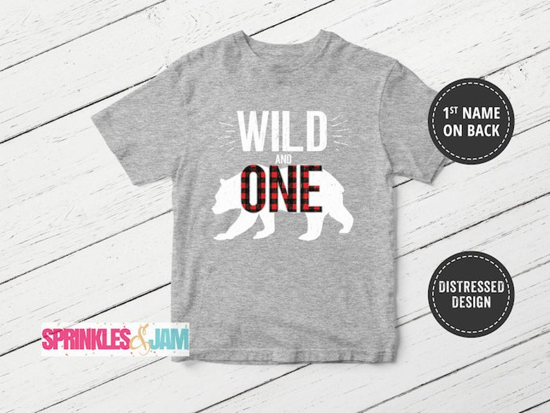 Wild One Birthday Shirt 1 1st