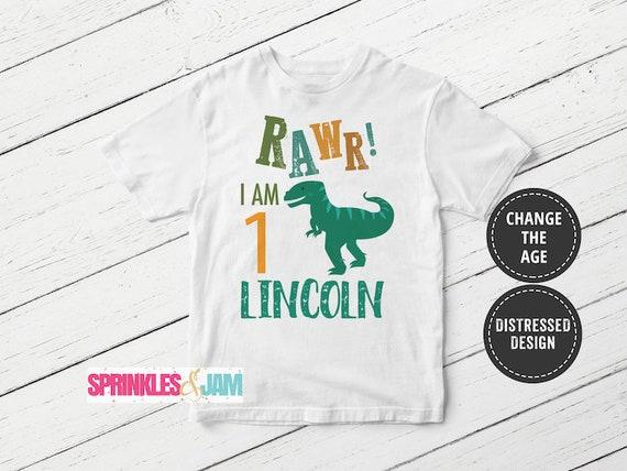 Dinosaur Birthday Shirt First