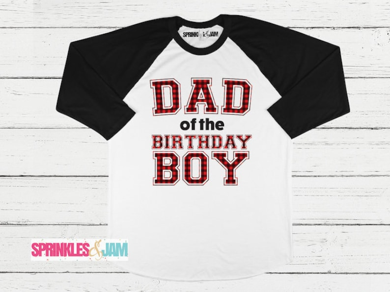 Lumberjack Birthday Shirts Parent Shirt Matching