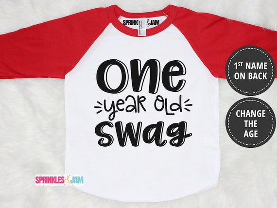 1st Birthday Boy Shirt First One Year Old Swag Boys Outfit