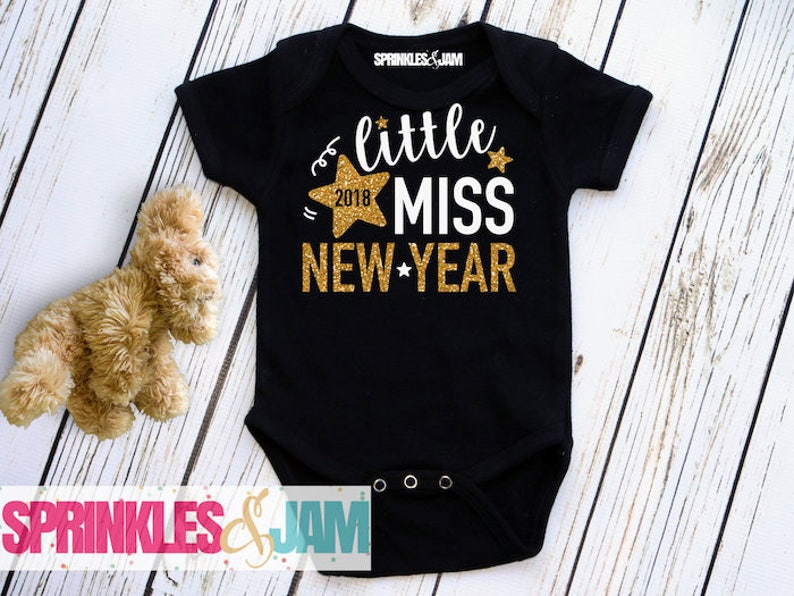 a543a00a4738 Little Miss New Year 2019 Baby Girls New Years Outfit Girls | Etsy