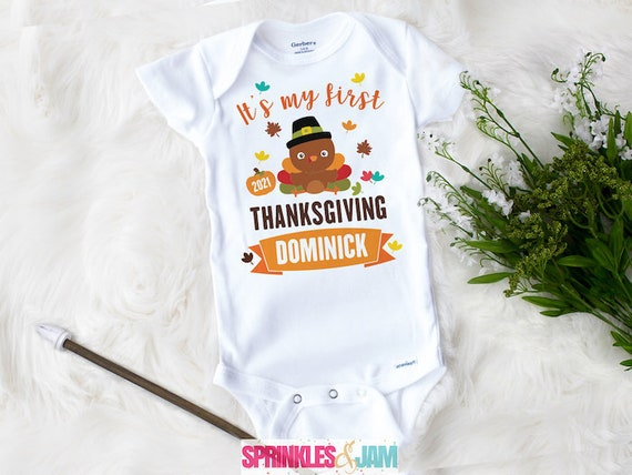 First Thanksgiving Onesie Cute Baby Clothes My First Etsy