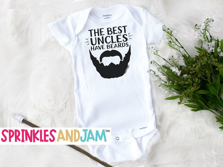 oncle baby onesie marque bebe meilleur oncles ont barbes etsy. Black Bedroom Furniture Sets. Home Design Ideas