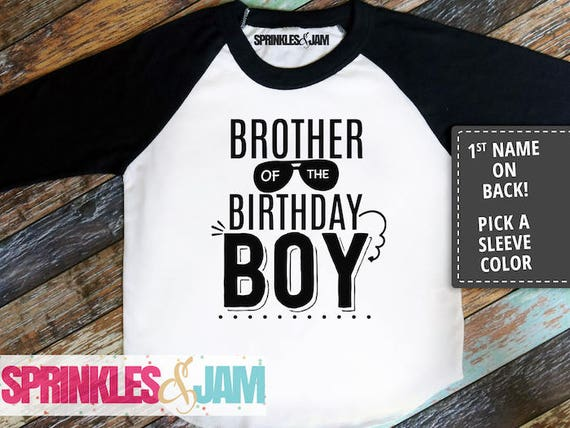 Brother Birthday Shirt Of The Boy Sibling