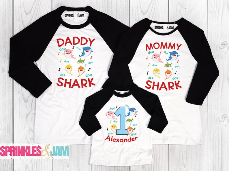 Baby Shark Birthday Shirt Family Matching