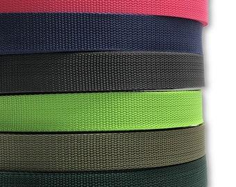1m Taschengurt versch Baumwollmischung 25 mm Farben Gurtband geflochten