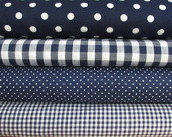 Fabric package in navy blue Art. 036