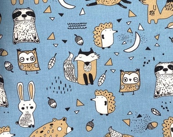 Cotton fabric children's fabric decorative fabric forest animals
