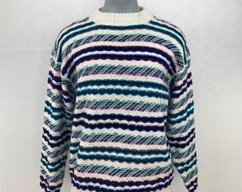f71c17253c460 Concrete Mix Vintage 90s sweater  90s knitted sweater