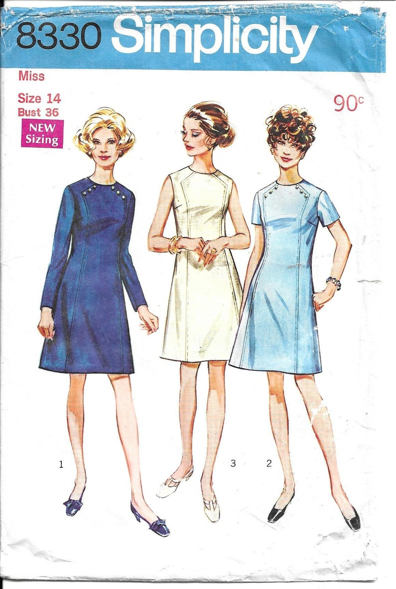 2d3c9bfeb Simplicity 8330 Misses  and Women s Dress Bust 36