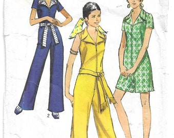 Simplicity 8791 Miss Petites' and Misses' Jumpsuit in Two Lengths - Bust 34 inch