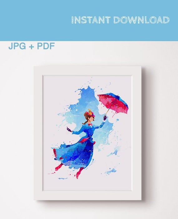 poster art party wallart mary poppins quote posters print gift prints