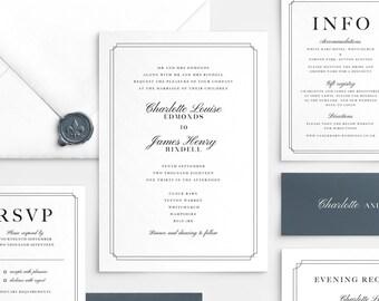 Wedding Invitation Template Etsy
