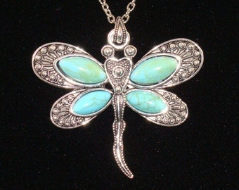 Large Dragon Fly Necklace