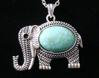 Large Elephant in Antique Silver